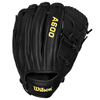 "Wilson A600 12"" Fielders Glove - Black - Fits Left Hand"