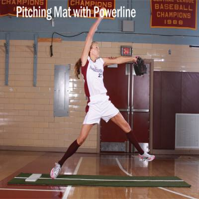 Pitching Mat with Powerline Main Image