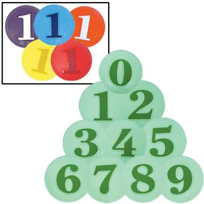 Numbered Poly Spots Set Main Image