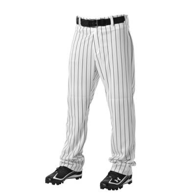 Open Bottom Baseball Pant with Pinstripes