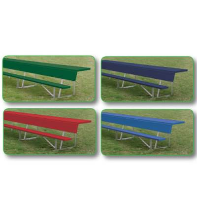 Powder Coated Player Bench with Shelf Main Image