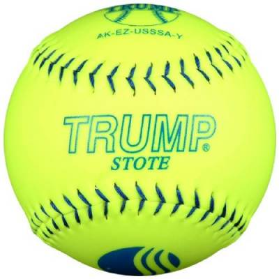 Trump® AK-EZ-USSSA-Y AK-EZ Series 12 Inch 40/325 USSSA 'Synthetic Leather Softball Main Image