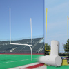 Official High School Gooseneck Goalposts