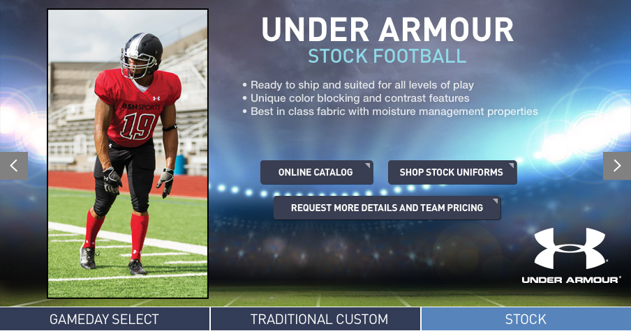9f33e76d63f Searching for the perfect look for your football team this season  BSN  SPORTS carries both stock and custom uniforms by Nike and Under Armour.